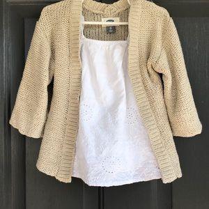 Old navy knit kimono neutral sweater. Like new